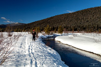 Snow shoeing along the Williams Creek Wells meadow